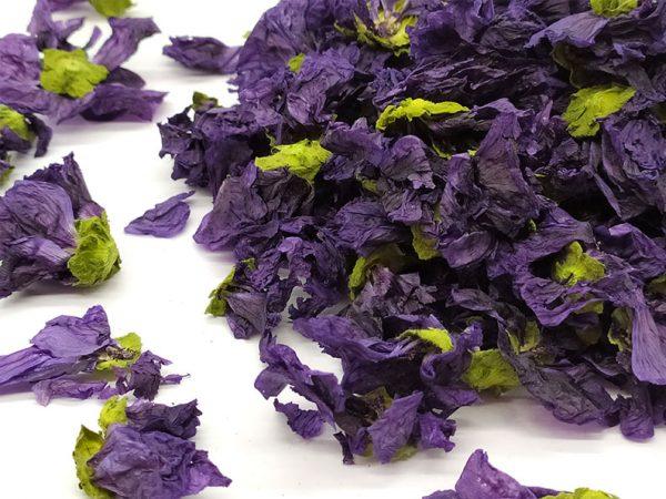Fleurs entières de Mauve séchées en vrac